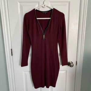 Burgundy dress!